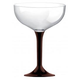 Flûte Champagne Plastique Pied Marron 200ml 2P (20 Utés)