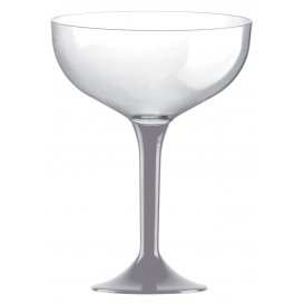 Plastic stam fluitglas grijs 200ml 2P (200 stuks)