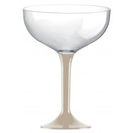 Plastic stam fluitglas beige 200ml 2P (200 stuks)