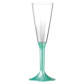 Plastic stam fluitglas Mousserende Wijn tiffanen parel 160ml 2P (200 stuks)