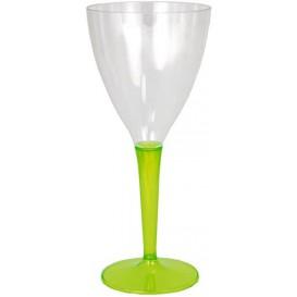 Verre à Vin Plastique Vert 130ml (60 Unités)