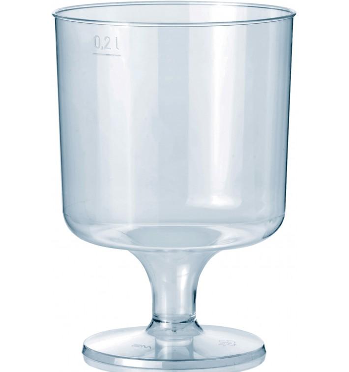 Verre à Pied en Plastique 200ml 1P (400 Utés)