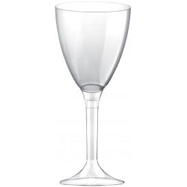 Plastic stamglas wijn transparant verwijderbare stam 180ml (20 stuks)