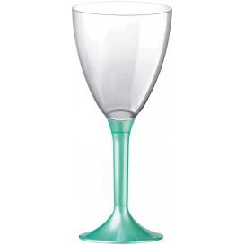 Flûte Plastique Vin Pied Tiffany Perlé 180ml 2P (20 Utés)
