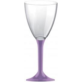 Plastic stamglas wijn lila verwijderbare stam 180ml (20 stuks)