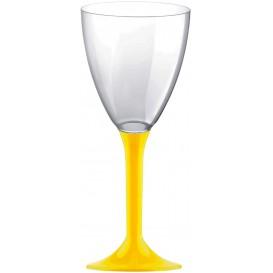 Flûte Plastique Vin Pied Jaune 180ml 2P (20 Utés)