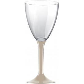 Plastic stamglas wijn beige verwijderbare stam 180ml (20 stuks)