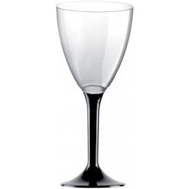 Flûte Plastique Vin Pied Noir 180ml 2P (200 Utés)
