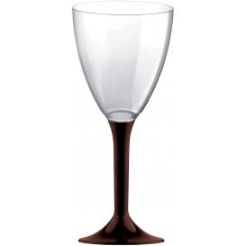 Flûte en Plastique Vin Pied Marron 180ml (20 Unités)