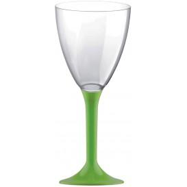 Flûte Plastique Vin Pied Vert citron 180ml 2P (20 Utés)