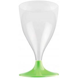 Plastic stamglas wijn limoengroen 200ml 2P (400 stuks)
