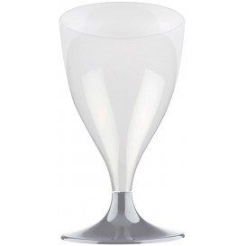Plastic stamglas wijn grijs 200ml 2P (400 stuks)
