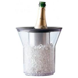 Plastic ijsemmer voor 1 fles transparant PCTA (1 stuk)