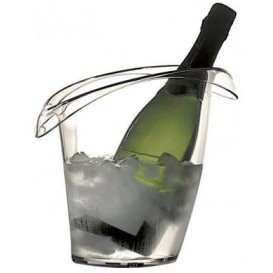 Plastic ijsemmer voor 1 fles transparant SAN (1 stuk)