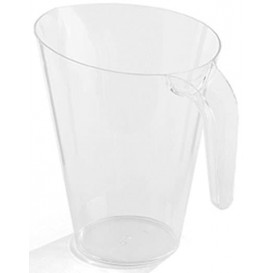 Plastic pot PS Herbruikbaar transparant 1.500 ml (1 stuk)