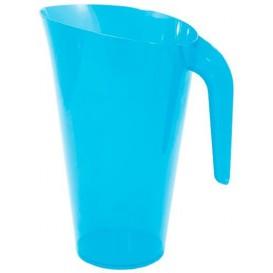 Plastic pot PS Herbruikbaar turkoois 1.500 ml (1 stuk)