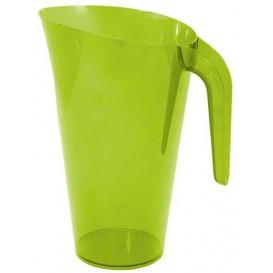 Plastic pot PS Herbruikbaar groen 1.500 ml (1 stuk)