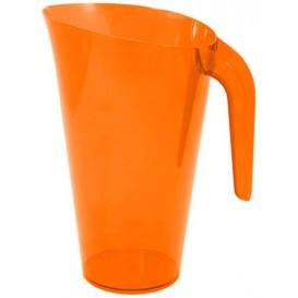 Plastic pot PS Herbruikbaar oranje 1.500 ml (1 stuk)