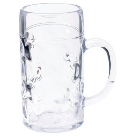 Plastic bierglas Herbruikbaar SAN Ø77mm 500ml (6 stuks)