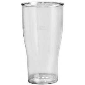 Plastic Pint glas SAN Herbruikbaar transparant 350ml (100 stuks)