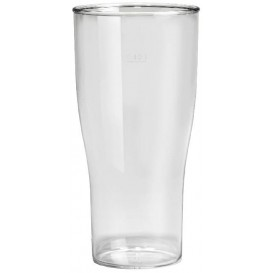 Plastic Pint glas SAN Herbruikbaar transparant 400ml (5 stuks)