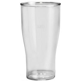 Plastic Pint glas SAN Herbruikbaar transparant 400ml (80 stuks)