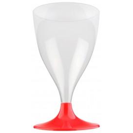 Plastic stamglas wijn rood transparant 200ml 2P (400 stuks)
