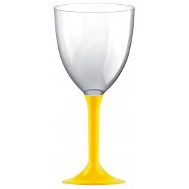 Flûte en Plastique Vin Pied Jaune 300ml 2P (20 Utés)