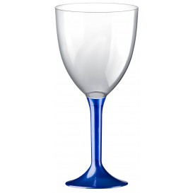 Plastic stamglas wijn blauw parel verwijderbare stam 300ml (200 stuks)