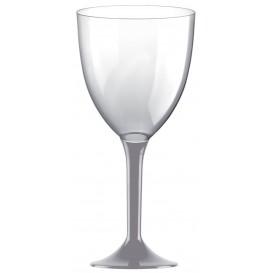 Plastic stamglas wijn grijs verwijderbare stam 300ml (20 stuks)