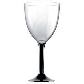 Plastic stamglas wijn zwart verwijderbare stam 300ml (20 stuks)