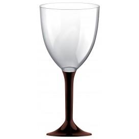 Flûte en Plastique Vin Pied Marron 300ml (200 Unités)