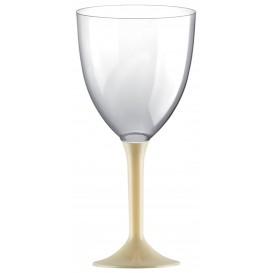 Flûte en Plastique Vin Pied Creme 300ml 2P (200 Utés)