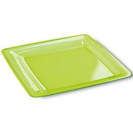 Assiette Carrée Extra Dur Vert 22,5x22,5cm (6 Utés)