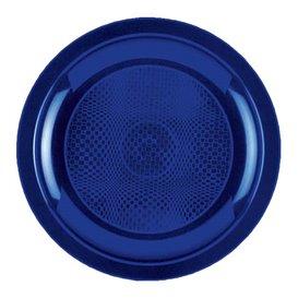 Assiette Plastique Réutilisable Plate Bleu PP Ø185mm (50 Utés)