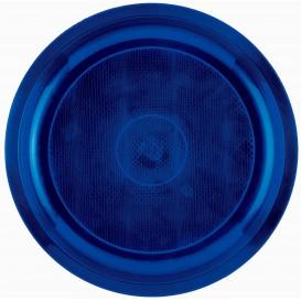 Assiette Plastique Réutilisable Bleu PP Ø290mm (25 Utés)