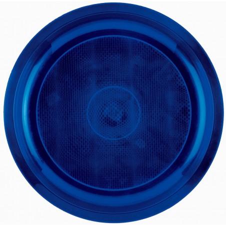 Assiette en Plastique Bleu Round PP Ø290mm (150 Utés)