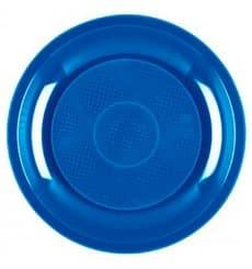 Assiette Plastique à Dessert Bleu Mediterranée Round PP Ø185mm (600 Utés)