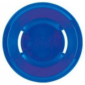 """Plastic bord Diep mediterranean blauw """"Rond vormig"""" PP Ø19,5 cm (600 stuks)"""