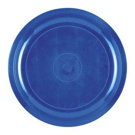 "Plastic bord mediterranean blauw ""Rond vormig"" PP Ø29 cm (25 stuks)"