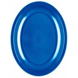 """Plastic schotel Ovaal vormig mediterranean blauw """"Rond vormig"""" PP 25,5 cm (600 stuks)"""