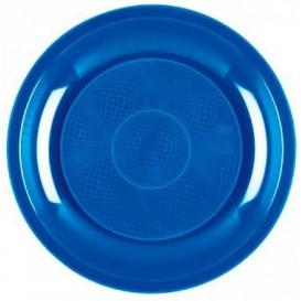 "Plastic bord Plat mediterranean blauw ""Rond vormig"" PP Ø22 cm (50 stuks)"