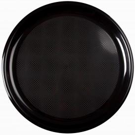 """Plastic bord voor Pizza zwart """"Rond vormig"""" PP Ø35 cm (12 stuks)"""