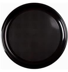 Assiette Plastique Pizza Noir Round PP Ø350mm (144 Utés)
