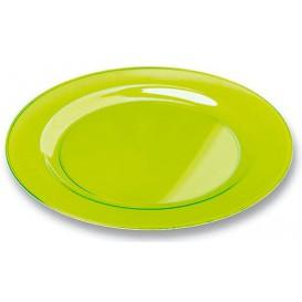 Plastic bord Rond vormig extra sterk groen 23cm (90 stuks)