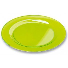 Plastic bord Rond vormig extra sterk groen 26cm (90 stuks)