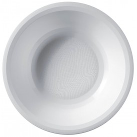 "Plastic bord Diep wit ""Rond vormig"" PP Ø19,5 cm (50 stuks)"