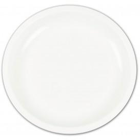 Assiette en Plastique Blanc Ø235mm(150 Utés)