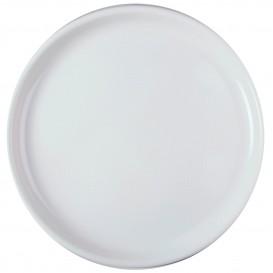 """Plastic bord voor Pizza wit """"Rond vormig"""" PP Ø35 cm (12 stuks)"""