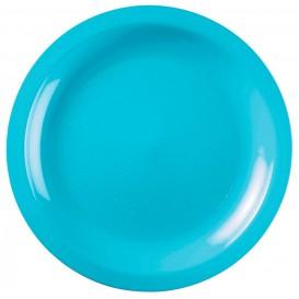 Assiette Plastique Réutilisable Plate Turquoise PP Ø220mm (50 Utés)